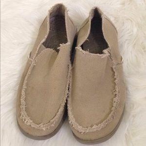 Men's Crocs Tan Khaki Loafers Flats  shoes Size 9